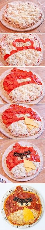 Angry bird pizza.