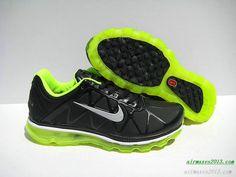 Nike Air Maxes 2011 Leather Black Volt 429889 001