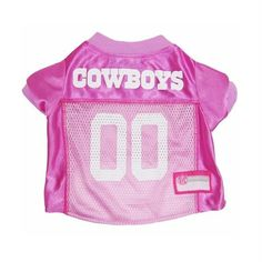 e4490f4ed6dce Dallas Cowboys Pink Dog Jersey - Pets First Get your dog ready for the game  with this officially licensed NFL pink dog jersey designed with the Dallas  ...
