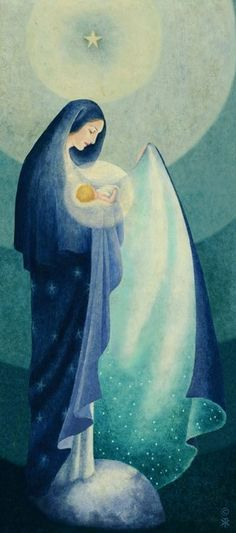 Lost in the Beauty of her God- the beautiful art of Sr. Blessed Virgin Mary, Queen of Heaven. Blessed Mother Mary, Divine Mother, Blessed Virgin Mary, Queen Mother, Catholic Art, Religious Art, Queen Of Heaven, Mary And Jesus, Holy Mary