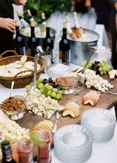 10 Food Station Ideas Guests Will Go Crazy For: Cheese Station. Click to read more.