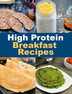 High protein breakfast recipes, indian protein rich recipes in 2019 Protein Snacks, Veg Protein, Protein Rich Foods, High Protein Recipes, Diet Snacks, Vegan Brunch Recipes, Vegetarian Recipes Easy, Healthy Breakfast Recipes, Indian Food Recipes