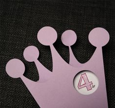 A little princess-card that I have used for invitations and birthday cards.