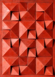 Decorative Wall Panels, 3d Wall Panels, Wall Patterns, Textures Patterns, Origami Art Mural, 3rd Grade Art Lesson, 3d Wall Tiles, Slab Ceramics, Acoustic Design