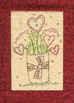 Hudsons Holidays - Designer Shirley Hudson: Monday sale pattern!! Valentine stitchery bouquet