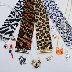 Loom Bracelet Patterns, Bead Loom Patterns, Beaded Jewelry Patterns, Loom Bracelets, Beading Patterns, Peyote Beading, Loom Animals, Peyote Stitch, Beaded Bracelets