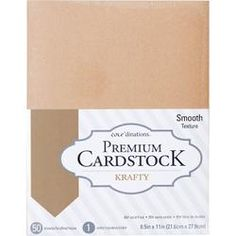 """CORE'DINATIONS VALUE PACK SMOOTH CARDSTOCK 8.5""""X11"""" 50/PKG KRAFTY"""