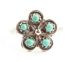 Vintage Sterling Silver Turquoise Blue Stone by MaejeanVINTAGE, $20.00