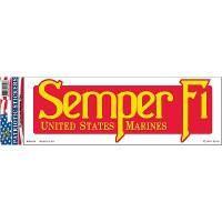 DECAL, USMC, SEMPER FI