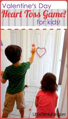 Valentine's Day Heart Toss Game  :Little Family Fun: