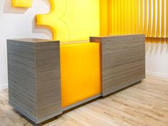 Reception Desk with Lit Panel - 600.15 | transactions | Ready to Go Solutions | 3form