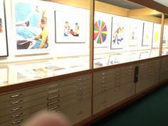 The Met print display