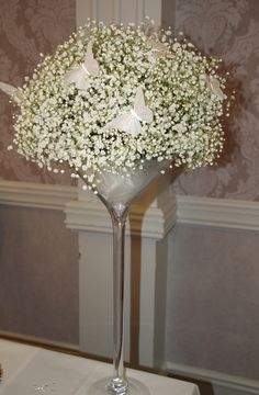 Gypsophila & Butterfly  - Kirst love the gypsophila and butterfly combo.