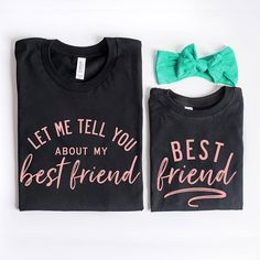 Mommy and Me Shirts Best Friend Shirts Set of 2 Mother Mommy And Me Shirt, Mama Shirt, Mommy And Me Outfits, Kids Outfits, Mom And Me, Sibling Shirts, Baby Shirts, Shirts For Girls, Kids Shirts