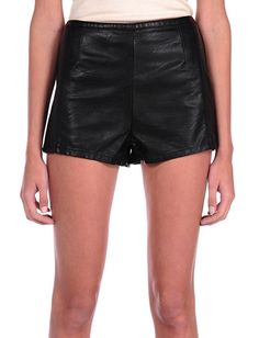 Coachella Vegan Leather High Waisted Shorts available at Trend Rush.