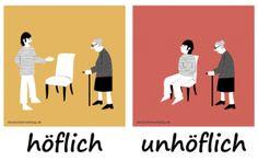 höflich unhöflich Adjektive Deutsch deutschlernerblog