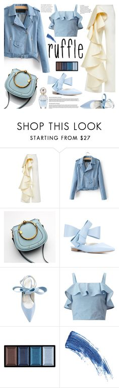 """""""What a Frill: Ruffles"""" by samra-bv ❤ liked on Polyvore featuring Delpozo, Miss Selfridge, Clé de Peau Beauté, Eyeko and Marc Jacobs"""