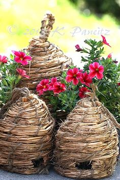 Bee Skeps, everyone should have one for their garden,  give bees a home and help save them.