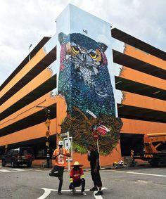 Massive Owl takes over Petaling Jaya