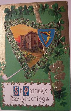 St Patrick's Day postcard,