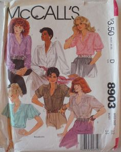 Women's Sewing Pattern  Button Front Blouses  by Shelleyville