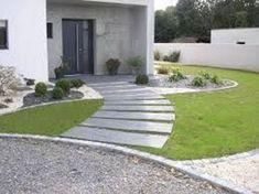 6 exterior decor ideas for your front door Modern Landscaping, Front Yard Landscaping, Backyard Patio, House Front, Garden Paths, Outdoor Gardens, Landscape Design, Pergola, Outdoor Decor