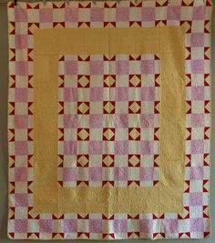 BEAUTIFUL Vintage Handmade Quilt with Feedsacks in Yellow Purple Red CLEAN | eBay, i_spy_design