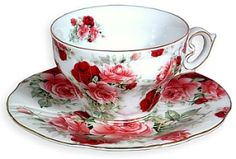 Moss Rose Childs Tea Set | Pansy Chintz Teacup & Saucer