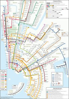 A revised New York City subway map.