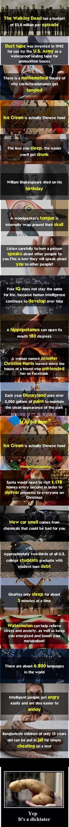Did You Know ? *don't worry there is a potato*