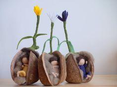 Die Wurzel Kinder Krokus Blume Nadel gefilzte Kind von FeltGnomePL