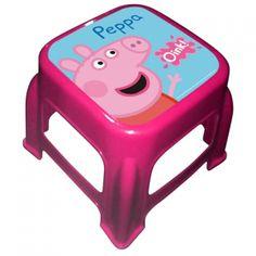 Peppa Pig Scalino Scendiletto Sgabello in Plastica, Complementi d'arredo Cameretta e Bagno Bambina - TocTocShop.com -
