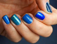 Lydia's Nails: Blue Gradient Nails featuring Zoya - Ryan, Song, Edie, Muse and Ling