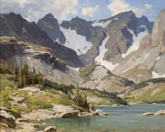 Clyde Aspevig (1951–Present) Lake Isabelle  oil on canvas board 24 x 30 in