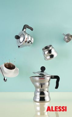 Alessi, the Italian Sign of Design. Learn the History, meet the Designers, Discover the collections and Buy Online the home products crafted by Alessi Best Espresso Machine, Espresso Maker, Espresso Coffee, Best Coffee, Coffee Cups, Coffee Maker, Italian Espresso, Coffee Set, Van Der Straeten