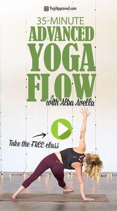 Advanced Vinyasa Yoga Flow (Free Class) Get ready to flow, and sweat it out in this advanced Vinyasa Yoga flow class. Join teacher Alba Avella as she guides you through this yoga class. Vinyasa Yoga, Ashtanga Yoga, Iyengar Yoga, Kundalini Yoga, Yoga Meditation, Yoga Flow Sequence, Yoga Sequences, Yoga Inspiration, Yoga Fitness