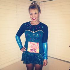 Frozen Elsa Inspired running costume for Tinkerbell Half marathon 2014 #rundisney