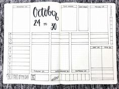 Bullet Journal Weekly Spread: October 24-30 2016. Templates available at bulleteverything.com