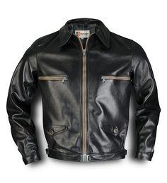 """Eastman """"Hartmann"""" Flight Jacket - black - original-flightjackets.com"""