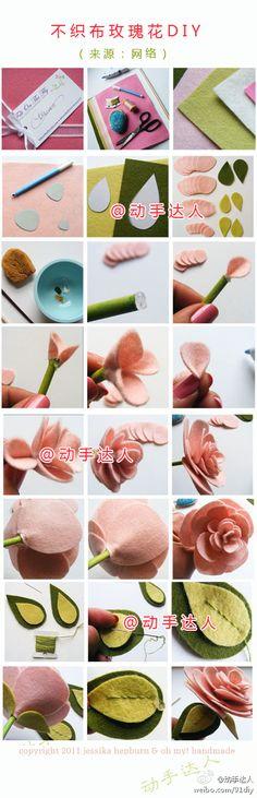 Flores de tecido e feltro!