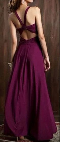 Purple Backless Maxi Dress //