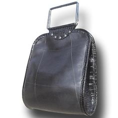 Bag hand made from used tires.