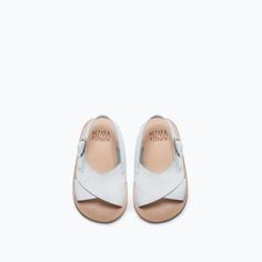 ZARA - SALE - LEATHER FLAT SANDAL