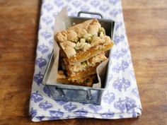 Get Grown-Up Apricot Newtons Recipe from Cooking Channel Food Network Recipes, Food Processor Recipes, Cookie Bars, Bar Cookies, Cookie Swap, Sandwich Cookies, Cookie Recipes, Bar Recipes, Healthy Recipes