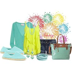 Lite Aqua Outfit, created by tracey-puckett on Polyvore