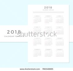 Vector Calendar Template January To June  Simple Planner