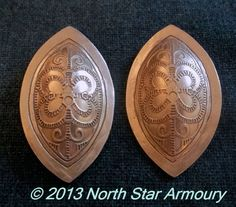 Karen Viking Woman's Oval Brooches----site has other items