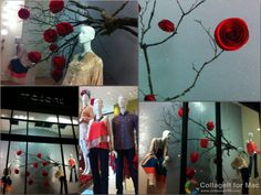 courtneyb: Valentines Window Display | Masons Boutique...love the branch with the flowers