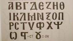 Greek Alphabet for Icons.