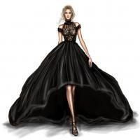 47 New ideas fashion sketches dresses moda Fashion Drawing Dresses, Fashion Illustration Dresses, Fashion Illustrations, Fashion Dresses, Drawing Fashion, Hijab Fashion, Fashion Art, Runway Fashion, Trendy Fashion